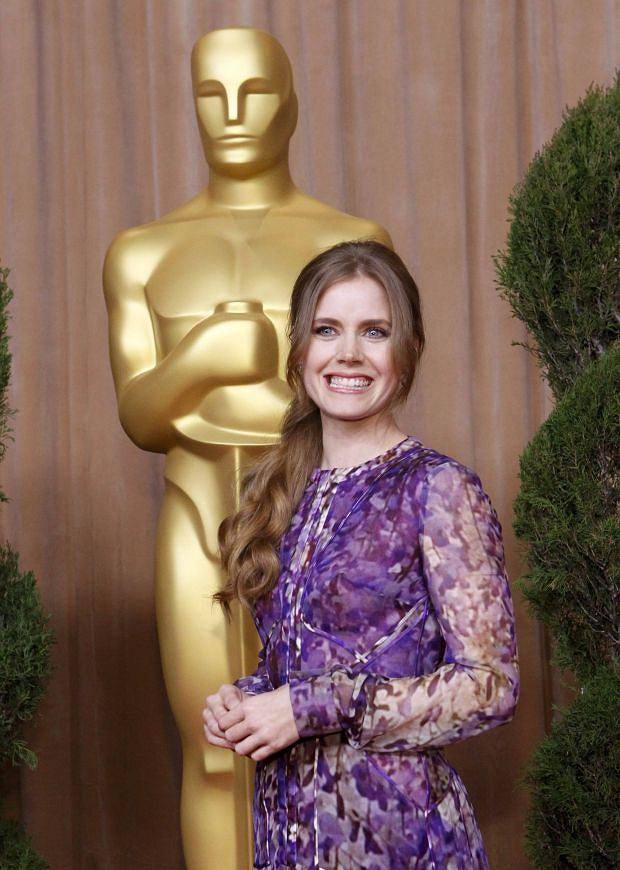 """Amy Adams, nominated for best supporting actress for her role in """"The Master"""", arrives   at the 85th Academy Awards nominees luncheon in Beverly Hills, California February 4, 2013. REUTERS/Mario Anzuoni (UNITED STATES  - Tags: ENTERTAINMENT)"""
