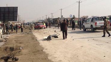 Miejsce samobójczego zamachu w Kabulu