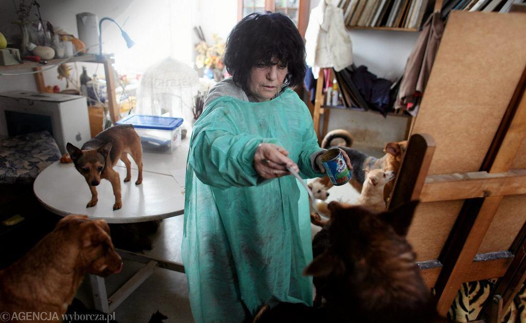 Bożena Wahl i jej psy