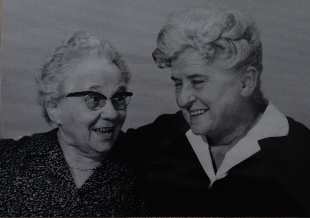 Luise Dahl i Halina Witaszek (fot. archiwum rodzinne Alodii Witaszek)