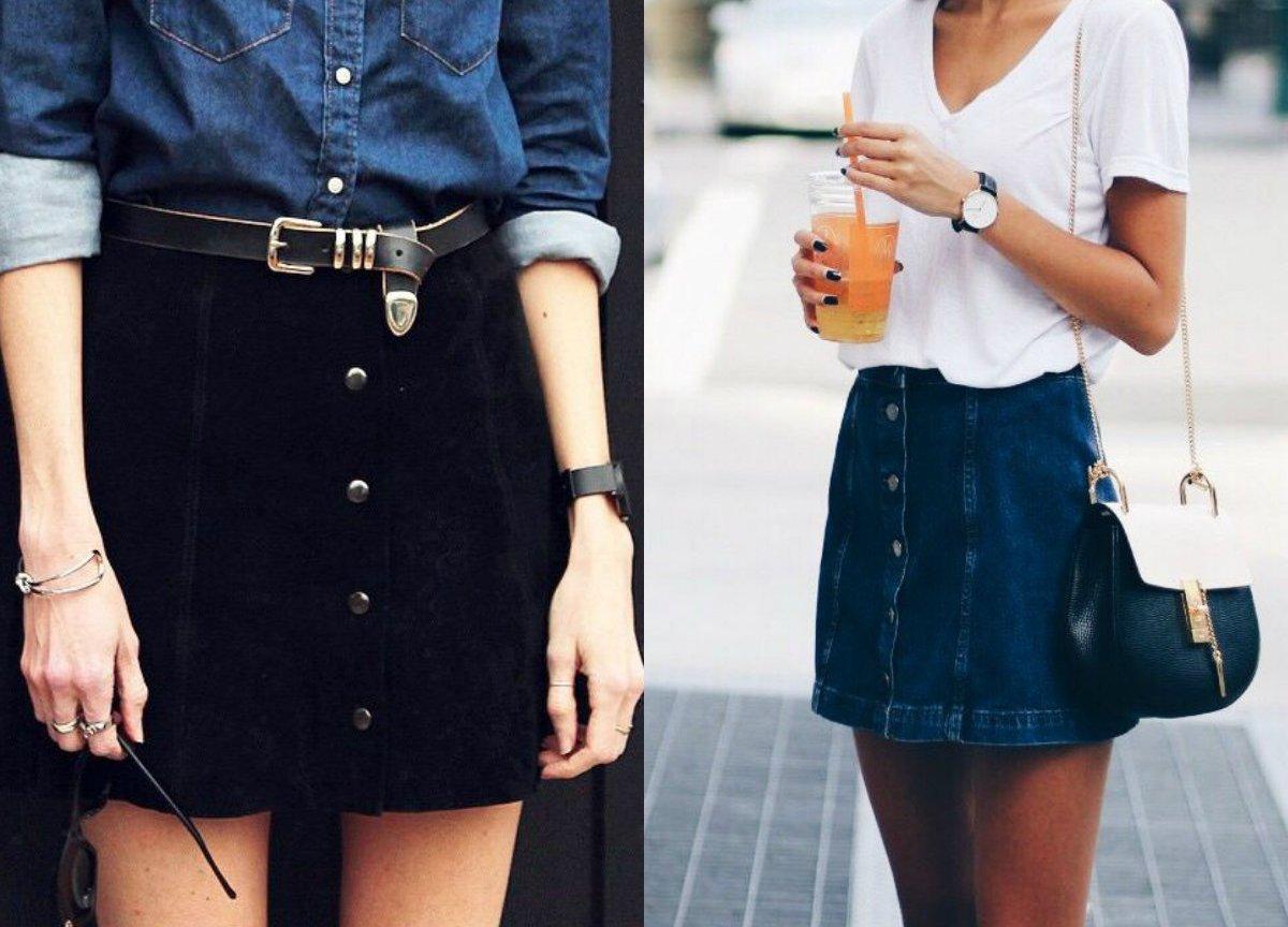 czarna spódnica jeansowa H&M 36 insta