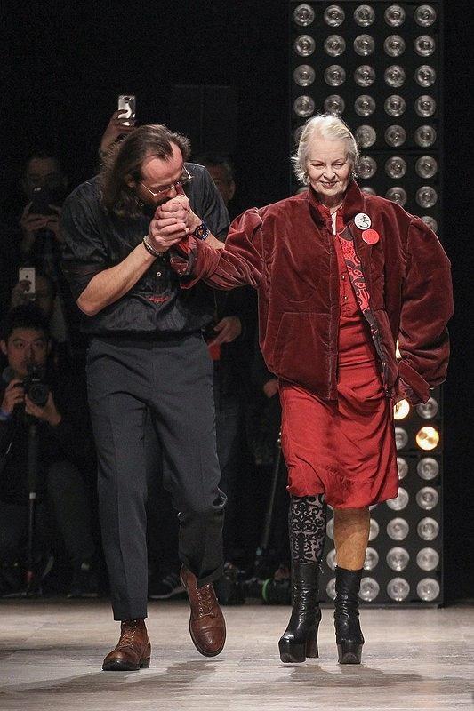 Andreas Kronthaler i Vivienne Westwood po wspólnym pokazie