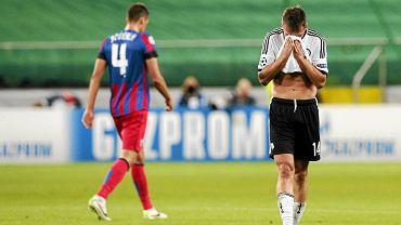 Smutek piłkarzy Legii po odpadnięciu z rozgrywek Ligi Mistrzów