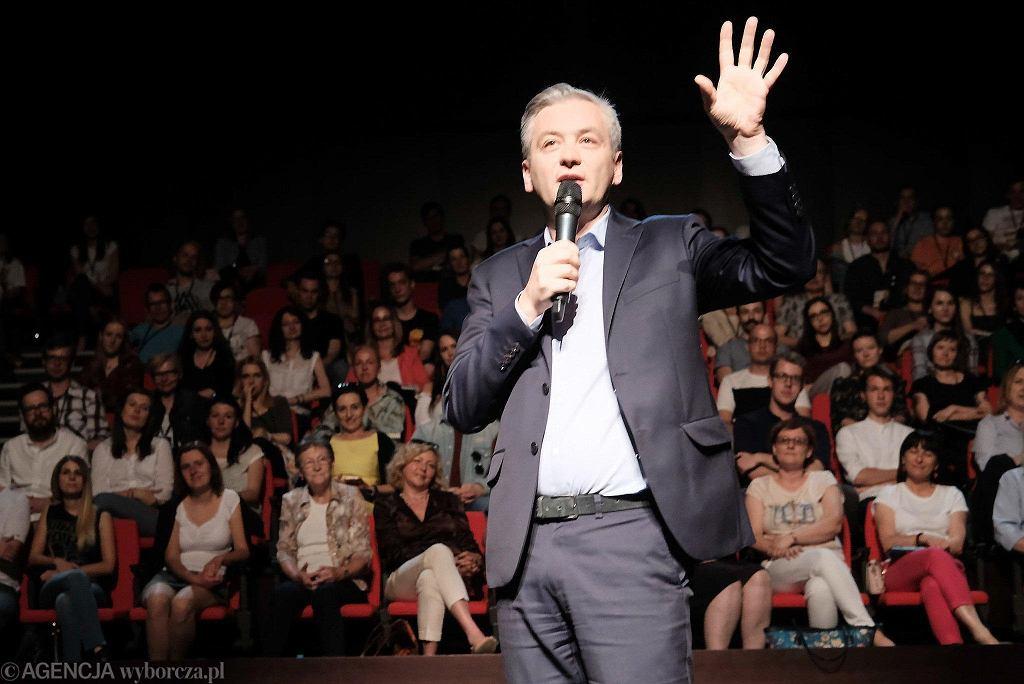 Robert Biedroń w Poznaniu. Spotkanie w Auli Artis SWPS