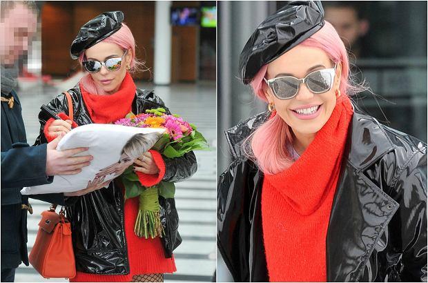 Zdjęcie numer 3 w galerii - Doda w nowej fryzurze i w lateksie. Różowe włosy to jeszcze nic. Spójrzcie na buty. Nawet jak na nią są BARDZO ODWAŻNE