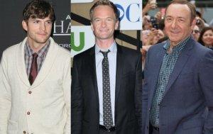 Ashton Kutcher, Neil Patrick Harris, Kevin Spacey
