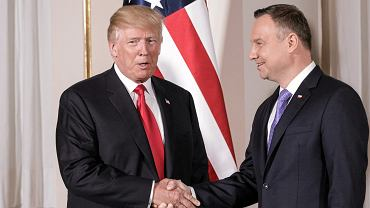 Donald Trump i Andrzej Duda w Warszawie w lipcu 2017 r.