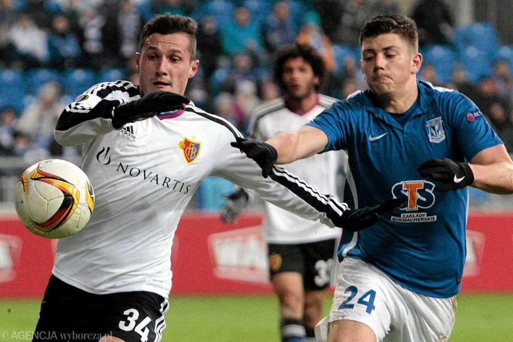 Lech Poznań - FC Basel 0:1. Dawid Kownacki i Taulant Xhaka