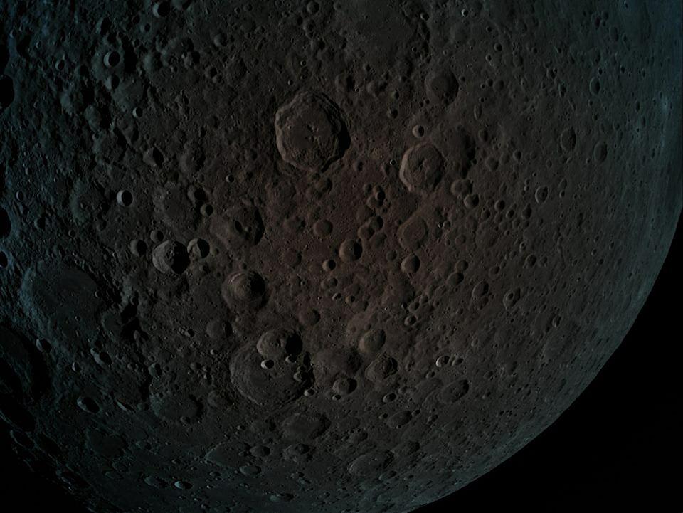 Ciemna strona Księżyca na zdjęciach przesłanych przez izraelską sondę kosmiczną