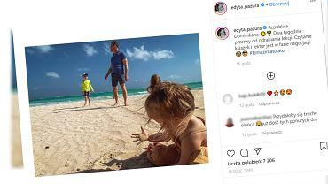 Edyta Pazura na wakacjach z dziećmi