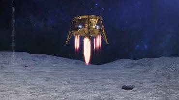 Symulacja lądowania Bereszit na Księżycu