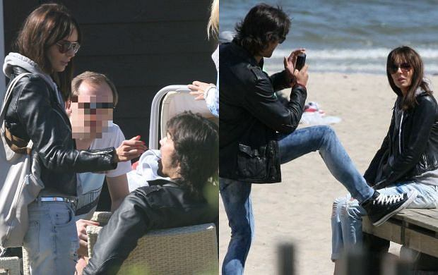 Agnieszka Włodarczyk i Mikołaj Krawczyk spędzili weekend w Sopocie. Para relaksowała się na plaży niedaleko słynnego molo. Włodarczyk mogła liczyć na zainteresowanie drugiej połowy