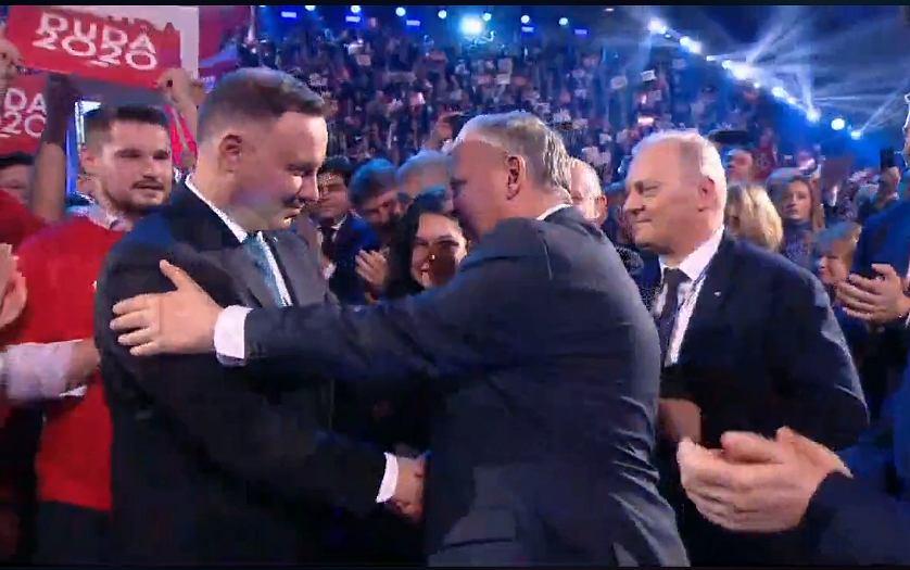 Powitanie Andrzeja Dudy z Markiem Suskim