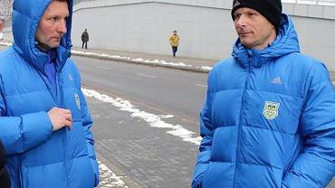 Na zdjęciu od lewej trener Grzegorz Niciński i Grzegorz Witt