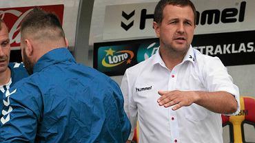Tomasz Wilman podczas meczu Korona Kielce - Piast Gliwice