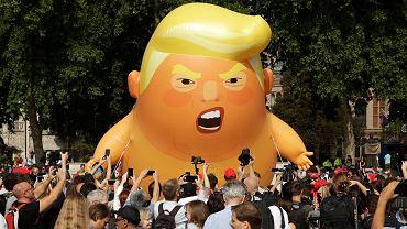 Londyn. Happening przeciwko wizycie Donalda Trumpa