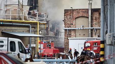 Pożar na dawnym terenach Stoczni Gdańskiej