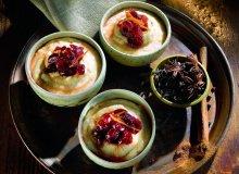 Piernikowy budyń jaglany z sosem żurawinowym - ugotuj