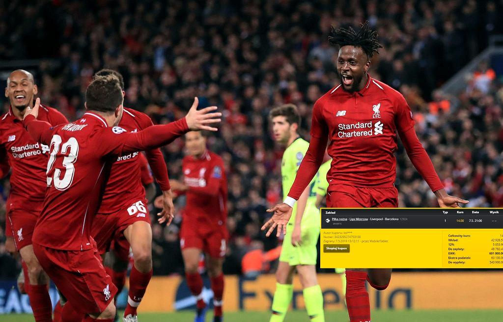 Kibic wygrał ponad pół miliona złotych po awansie Liverpoolu do finału