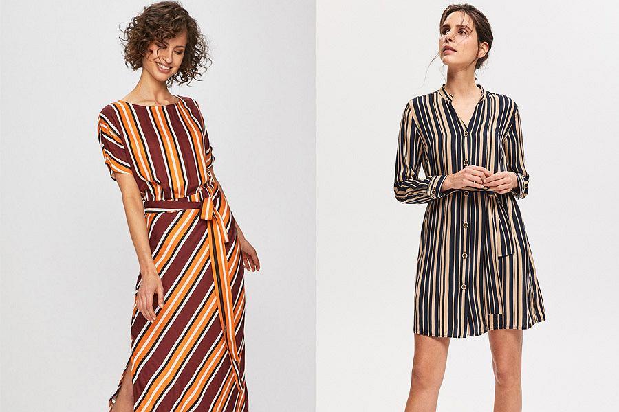 Sukienki wyszczuplające bazujące na złudzeniu optycznym