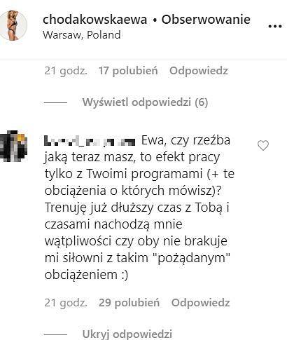 Ewa Chodakowska - odpowiedzi na pytania
