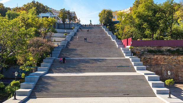 Słynne schody Potiomkinowskie w Odessie