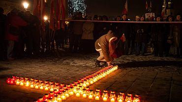 Kraków. Obchody 81. miesięcznicy smoleńskiej