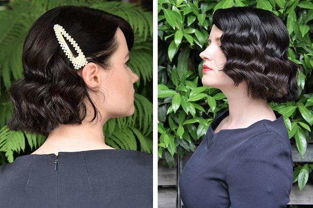 Retro fale świetnie się sprawdzą na włosach krótkich