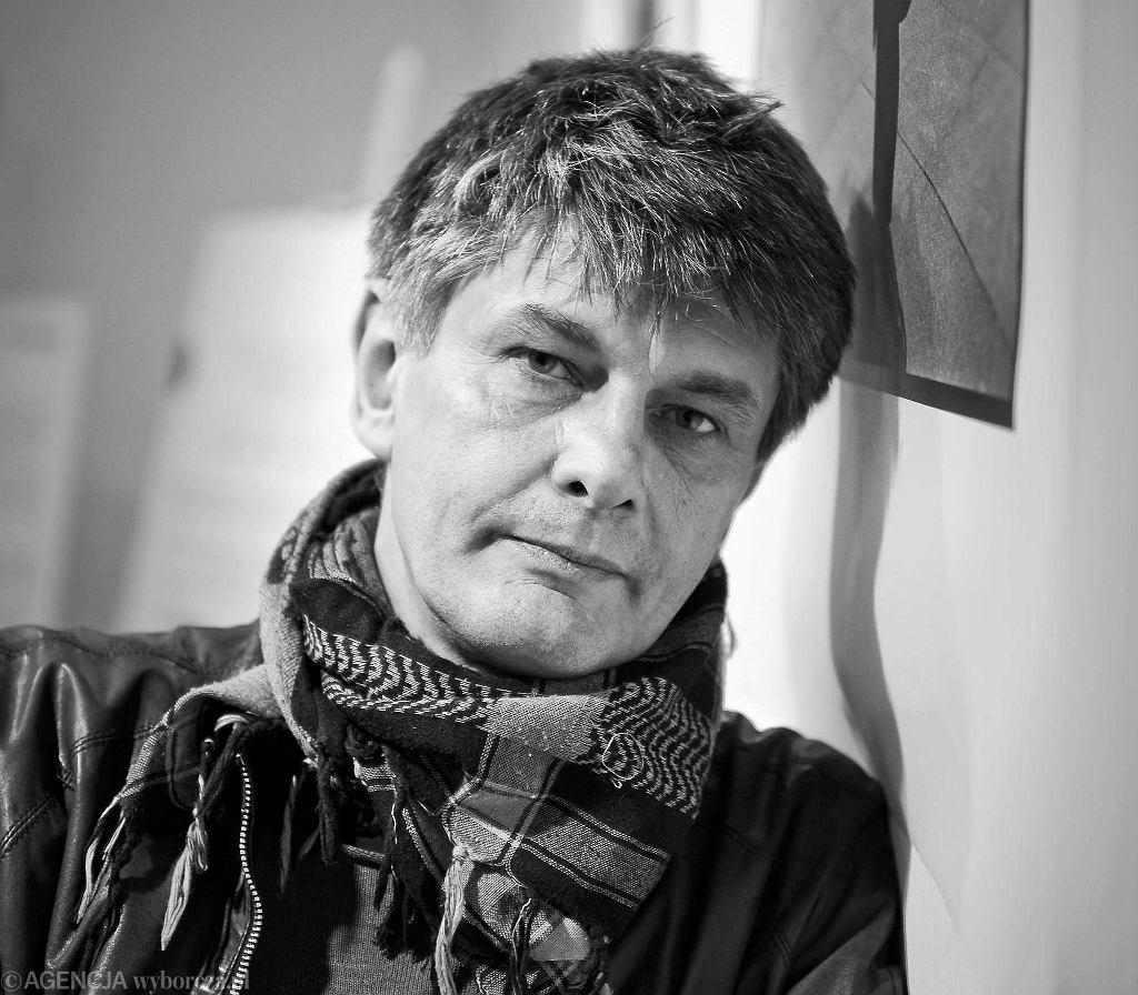 Krzysztof Miller (1962-2016) podczas wystawy fotografii