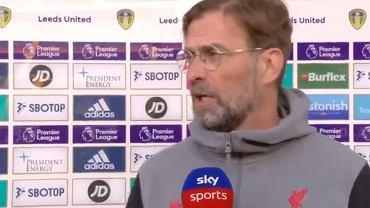 Juergen Klopp udzielający wywiadu Sky Sports