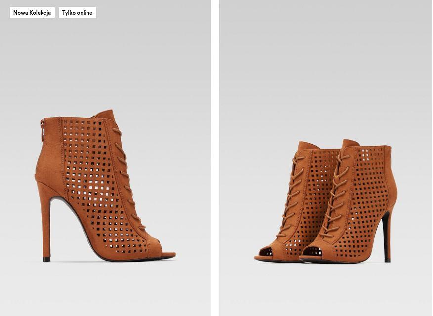 ażurowe sandały