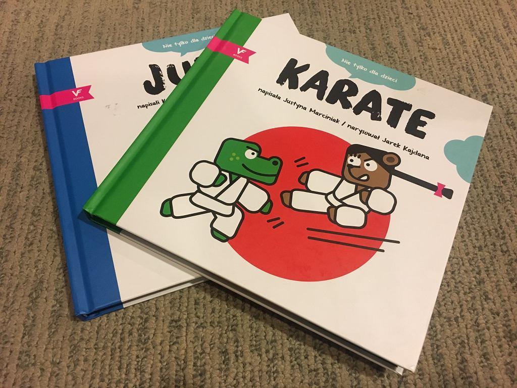 Książki o japońskich sztukach walki, które ukazały się w ramach projektu 'Do Dzieci'.
