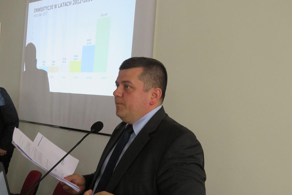 Prezydent Jacek Wójcicki prezentuje wykonanie budżetu za 2016 r.