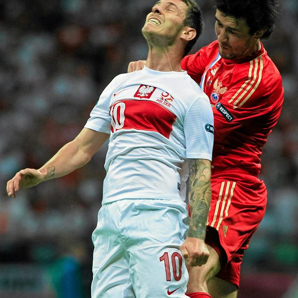 Ludovic Obraniak podczas rozgrywki Polska-Rosja, Euro 2012