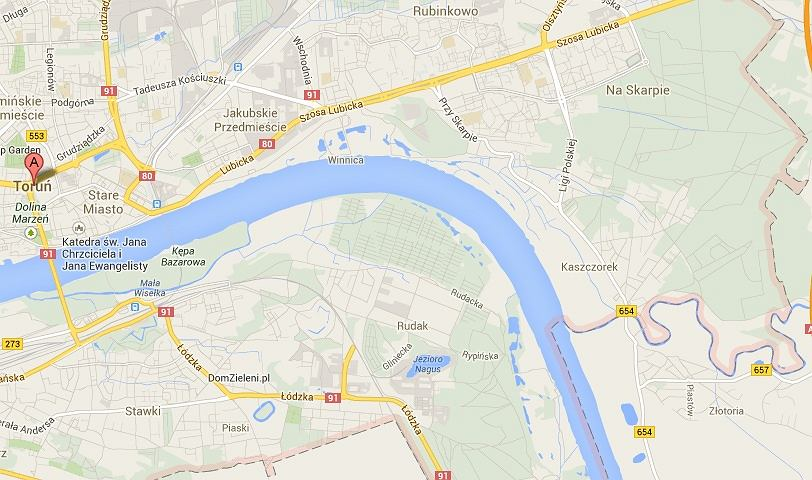 Google Maps Torun Wciaz Nie Ma Nowego Mostu