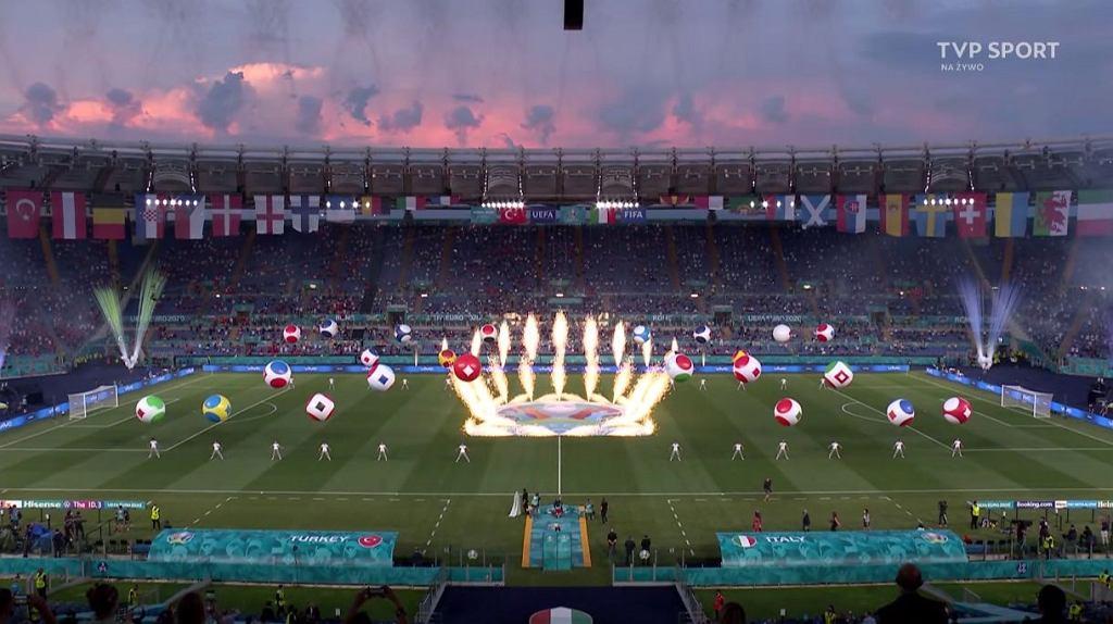 Ceremonia otwarcia Euro 2021 na Stadio Olimpico w Rzymie