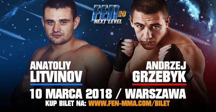 Anatolij Litwinow (5-0, 1 KO, 4 SUB) będzie rywalem Andrzeja Grzebyka (11-3, 4 KO, 3 SUB)