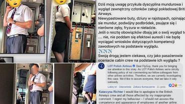 Pracownica LOT skrytykowała wygląd załogi British Airways