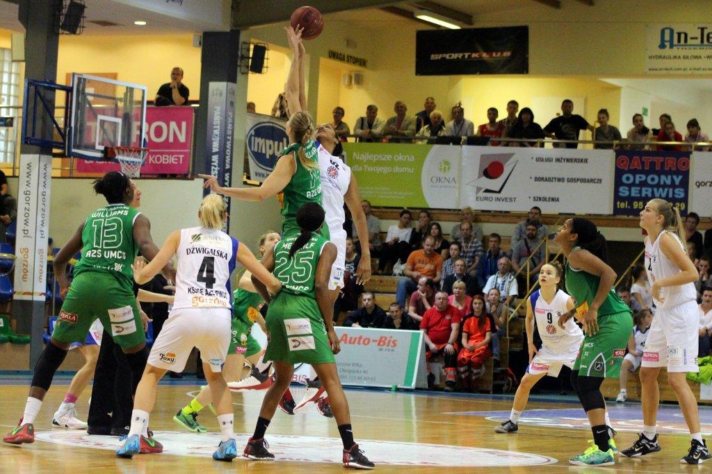 Tauron Basket Liga Kobiet: KSSSE AZS PWSZ Gorzów - Pszczółka AZS UMCS Lublin 67:61 (12:23, 16:13, 19:16, 20:9)