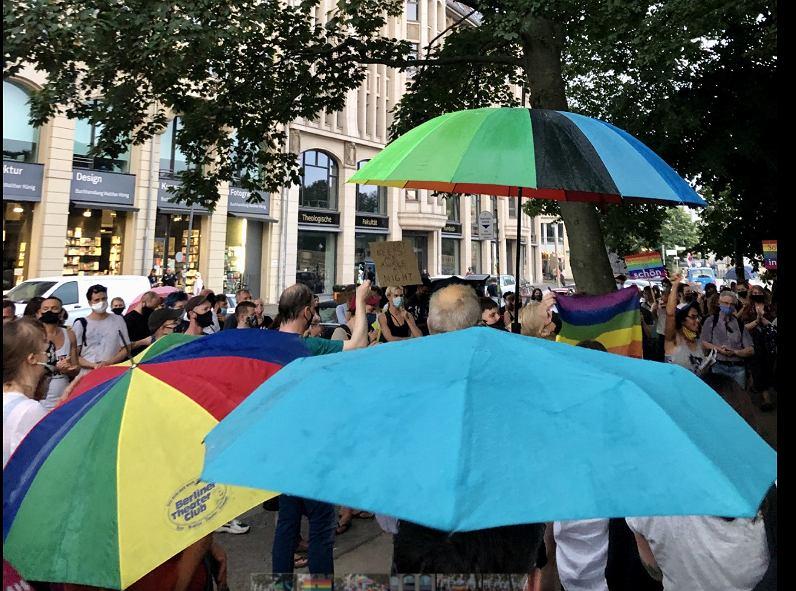 Demonstracja poparcia dla osób LGBT w Berlinie