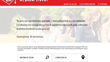 Portal wybierzstudia.nauka.gov.pl