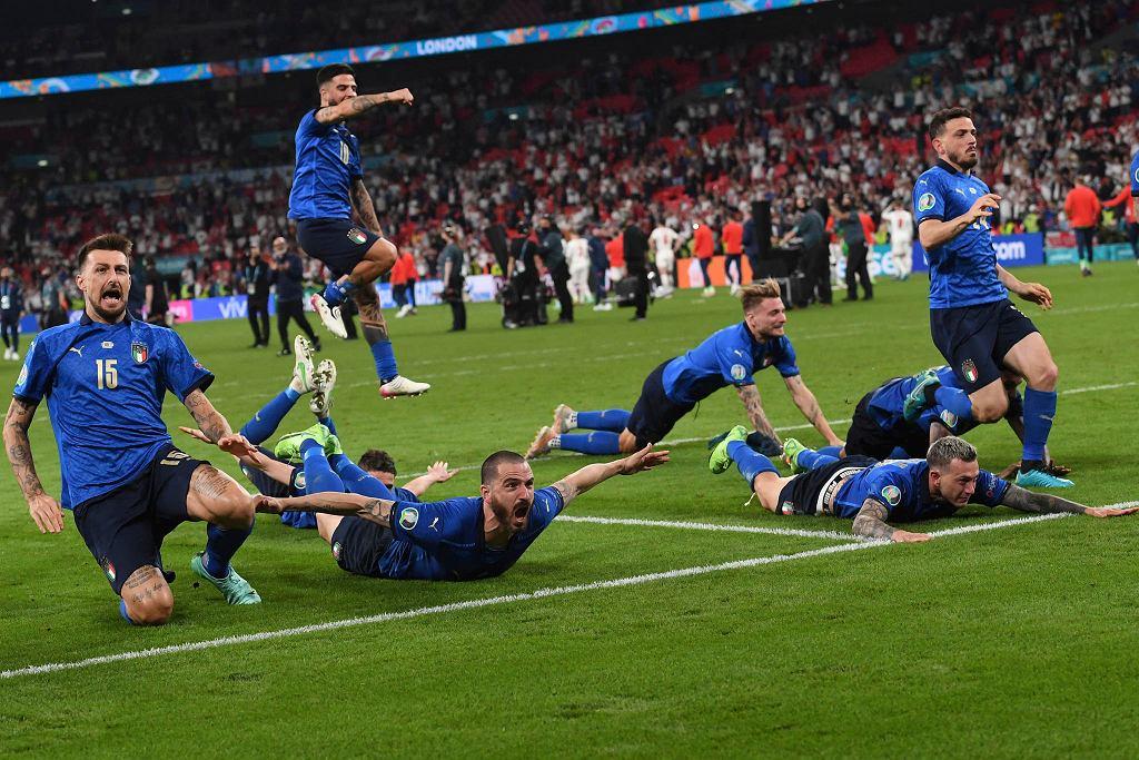 Finał Euro 2020. Włosi celebrują zdobycie złota