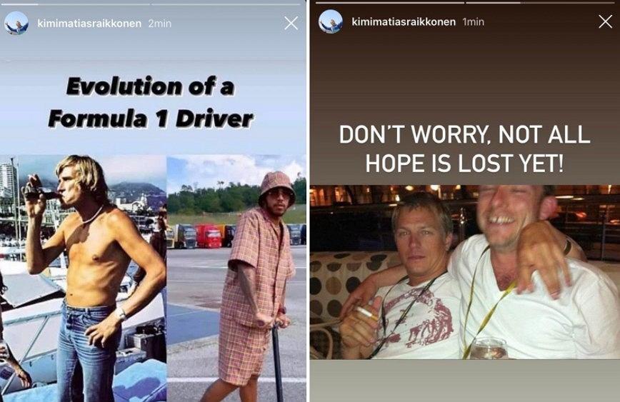 Kimi Raikkonen zażartował z Lewisa Hamiltona. 'Ewolucja kierowcy F1'