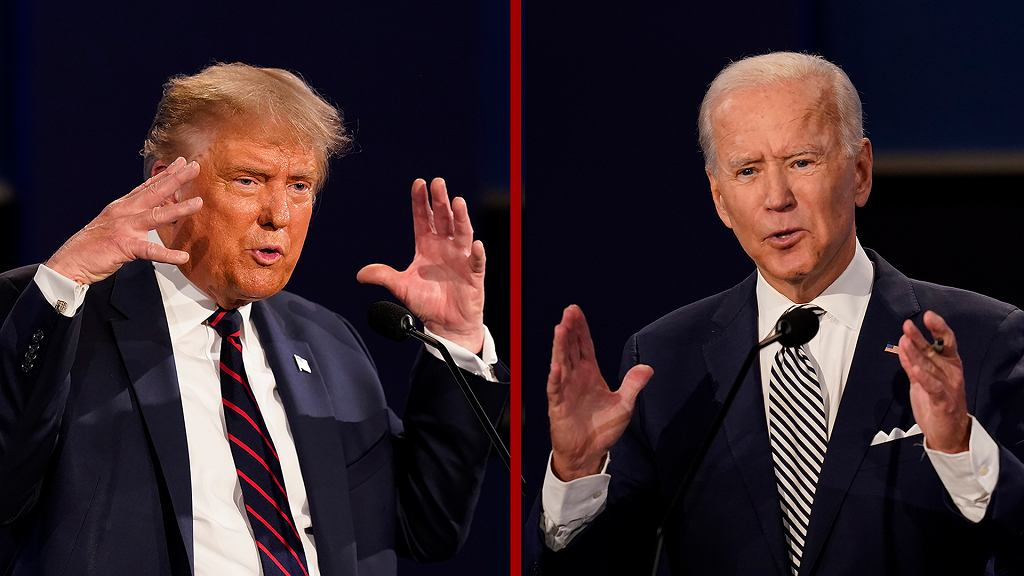Wybory prezydenckie w USA 2020. Debata prezydencka Donald Trump - Joe Biden