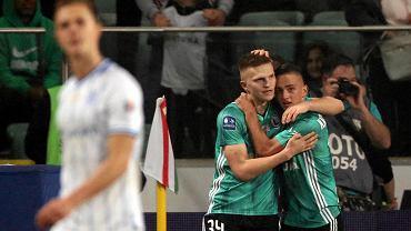 Legia - Lech 2:1. Maciej Rosołek (z prawej) strzelcem decydującego gola