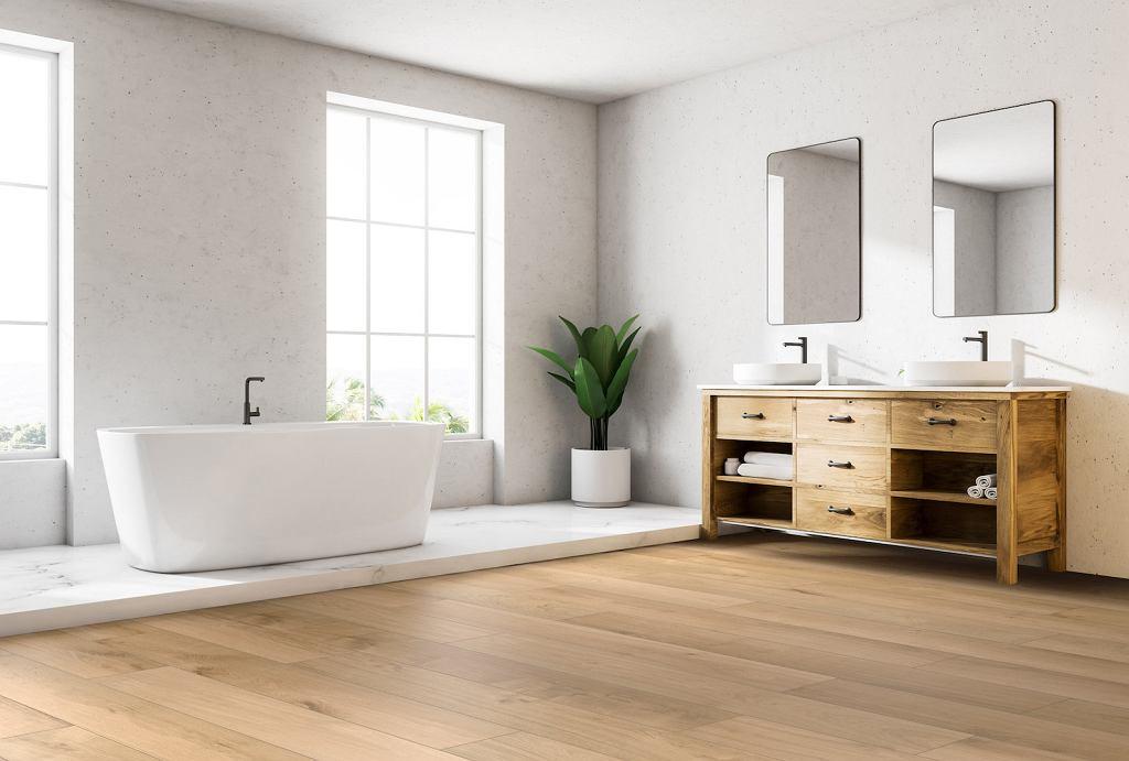 Panele winylowe Rocko w łazience.