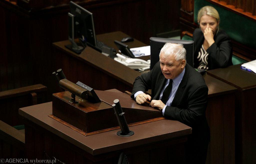 Jarosław Kaczyński na 46. Posiedzeniu Sejmu VIII Kadencji