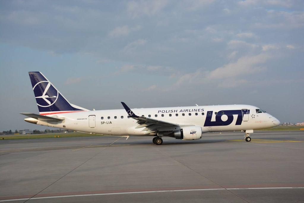 LOT-owski samolot Embraer