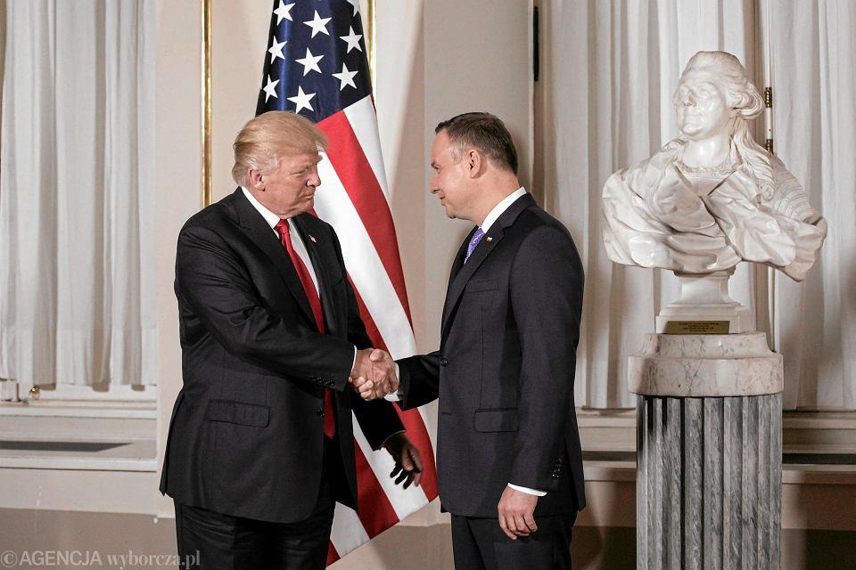 6.07.2017, Donald Trump z wizytą w Warszawie.