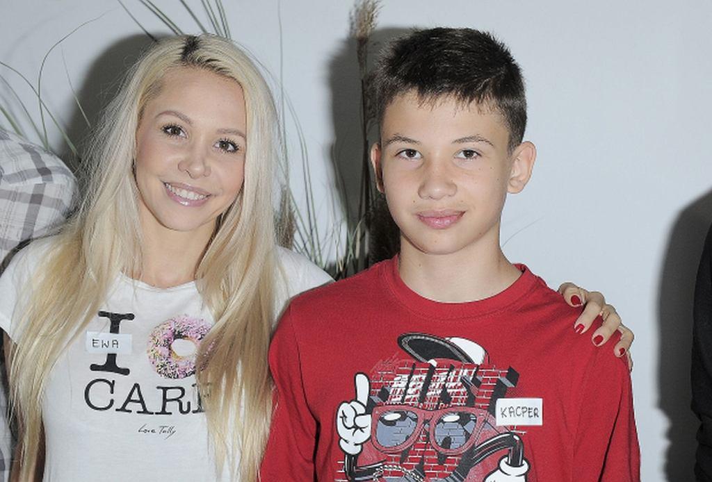 Ewa Lubert z synem
